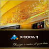 Modern hotel project design large oval yellow glass chandelier