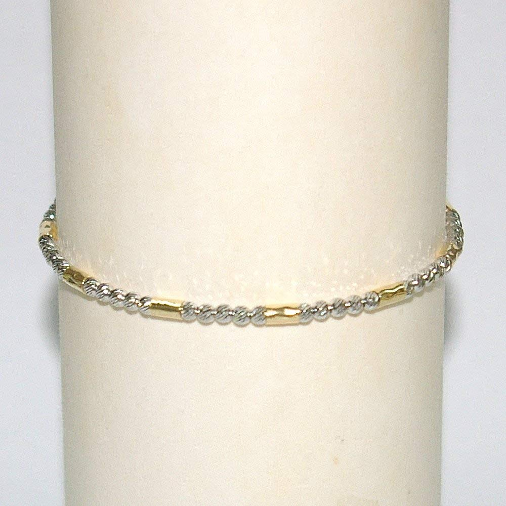 Best Birthday Gift Sterling Silver Rhodium-plated D//C Crosses w//1in ext Anklet