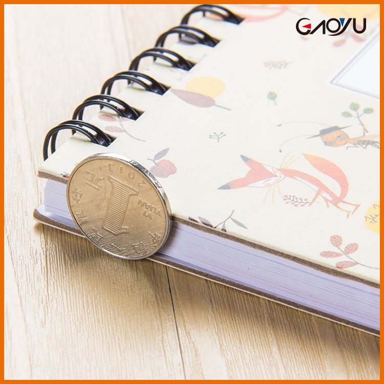 Free Sample Best Agenda Diary Famous Hardback Schedule Plan Double Ring Notebook