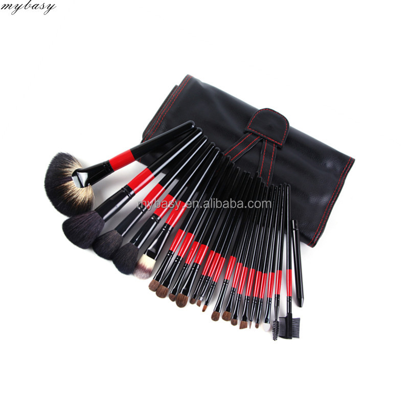 Mybasy pro 22pcs double colors handle makeup brush sets brocha de maquillaje