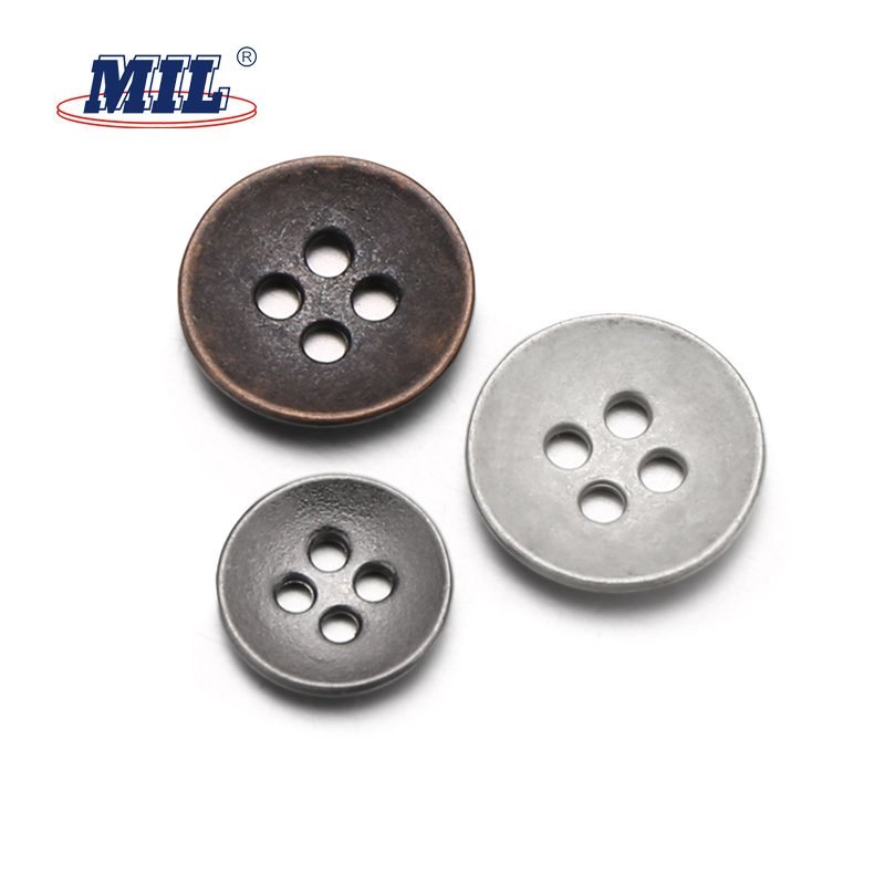High quality 4 holes metal button in buttons for garment