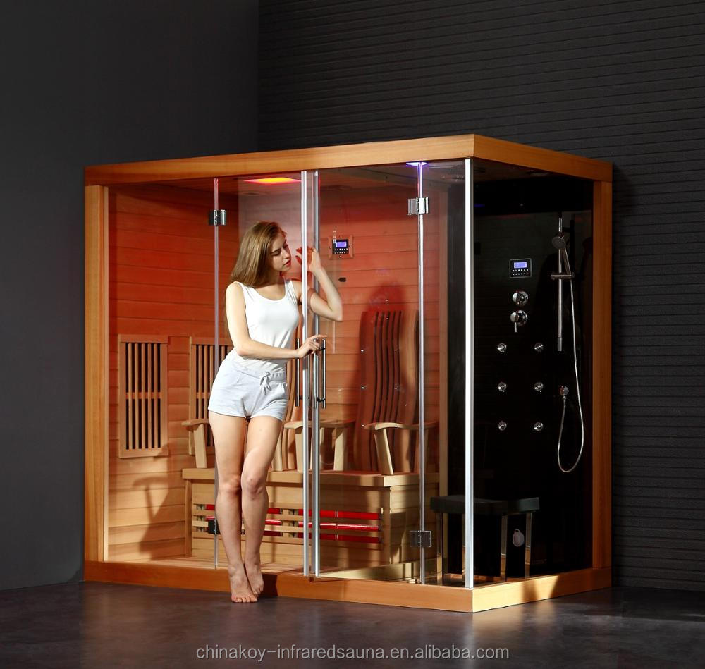 Infrared sauna and steam shower room combinations 02-K79A