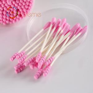 Spiral head and round head double head paper stick to remove makeup swab