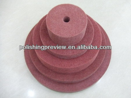 Brown color non woven unitized wheel for metal surface treament