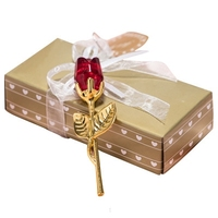 D519 Baby Christening Gifts Romantic Wedding Party Decoration Crystal Rose Favors With Colorful Box