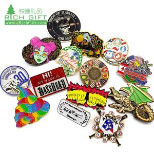 custom uae lapel pin badge cannabis leaf switzerland die casting magnetic  embossed enamel metal 3d baseball dragon lapel pin