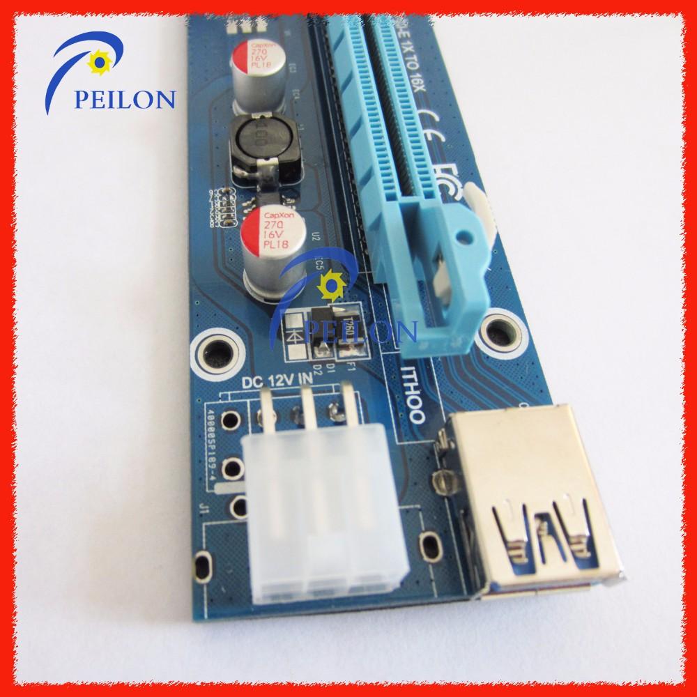 60cm Usb 30 Pcie X1 To X16 With Power Supply Cable Pci E 1x Express Riser Card 16x Vga Molex 4pin