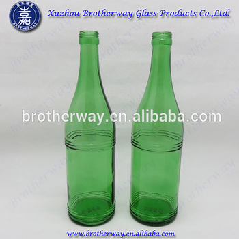 650ml korea soju glass green color bottle glass wine bottle