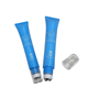 Plastic cosmetic packaging tube roller ball applicator for eyecream