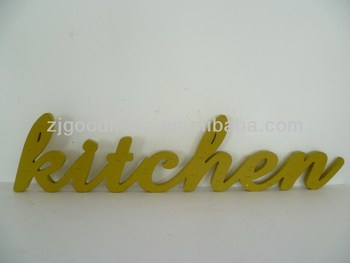 Hot Sale Wooden Words Letters KITCHEN Table Decoration Word Sign