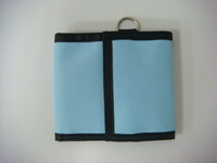 High quality promotional printing trifold nylon velcro wallet