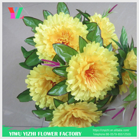 Ali Export 50cm 9 Head Cheap Artificial flower Bouquets Company For Graves