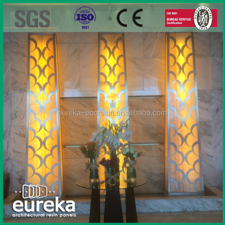 Acrylic wall rectangle hanging decorative 3d led wall panels