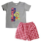 2019 Kids Clothing Set Smocked T Shirt & Gingham Short Suits Baby Boy Newborn Boutique Outfits