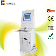 17inch lcd screen self-service ticket selling kiosk computer all in one