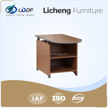 U shaped side desk file cabinet desk double sides