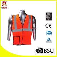 Polyester fabric safety reflective vest
