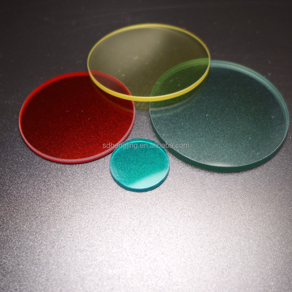 Visible light colorful optical glass filter