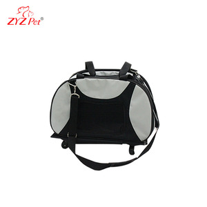 Flexible pull rod pet carry bag dog carrier cage for large animal travel use