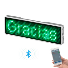 Bluetooth Mobiel APP Programmeerbare LED Naam Badge LED Bericht Badge LED Teken B1144