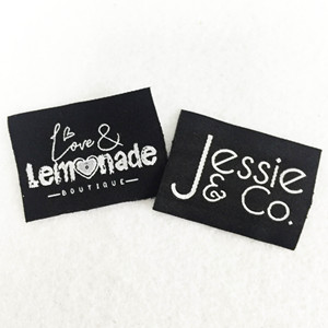 Custom design brand fashion woven clothing labels for jeans