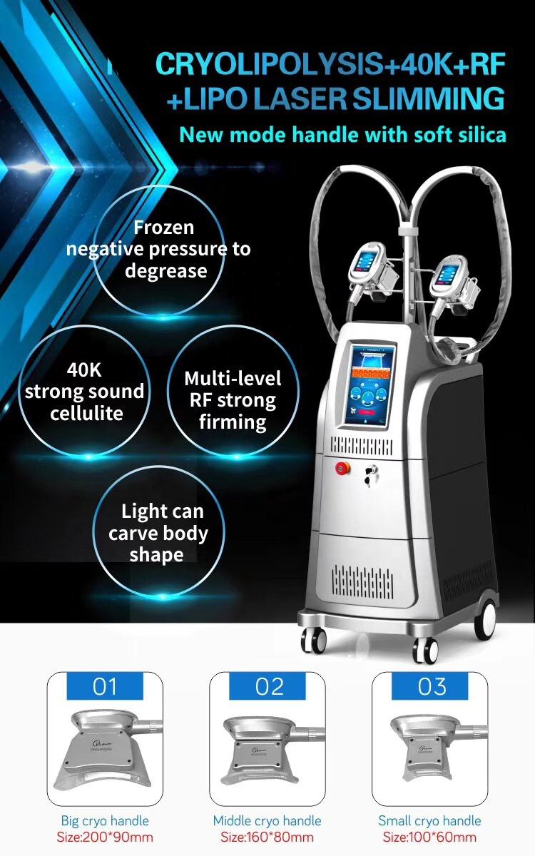 Huanshi newest 5 in 1 Cryolipolysis Machine Fat Freeze Slimming Machine with Cavitation RF Lipolaser