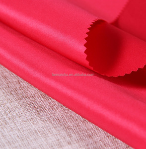 wholesale home textile 75D*150D satin 100% polyester satin fabric