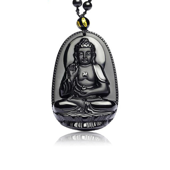 Natural Ice Obsidian 8 kinds Vairocana Ben Buddha Pendant Necklace Fashion Jewelry 12 Chinese Zodiac Sheep Monkey For Men Women