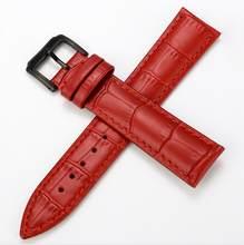 Настоящий Кожаный ремешок для часов ремень женские наручные часы ремешок Синий Розовый Красный Белый Розовый пряжка 12 мм 14 мм 16 мм 18 мм 20 мм(Китай)
