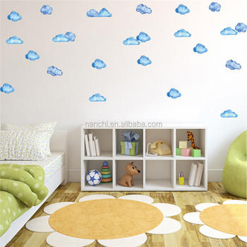 diy cute clouds children room wall stickers simple creative