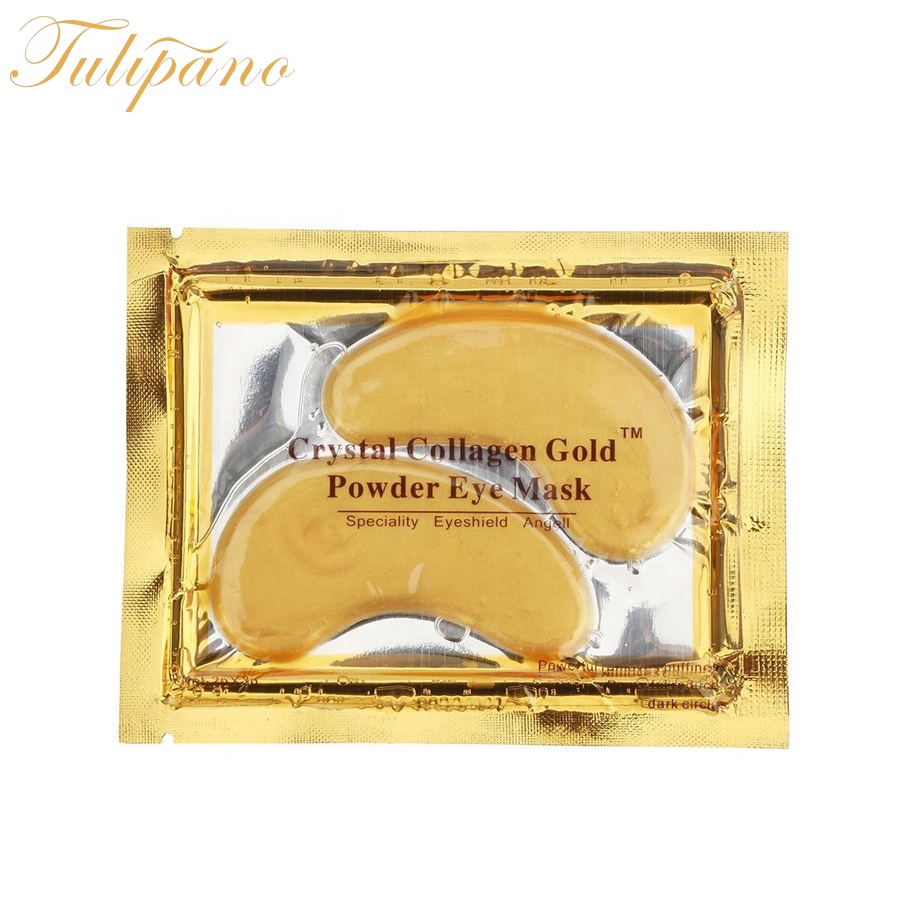 Acide hyaluronique cristal gel oeil patch pour les yeux en or 24 k masque de collagène