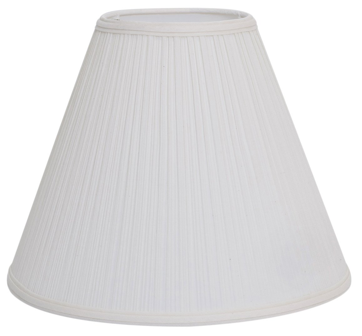 "Deran 401-14-NA 14"" Mushroom Pleat Empire Lamp Shade, 6"" x 14"" x 11.5"", Natural"