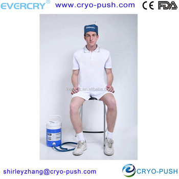 Head cryo cuff gravity fed motorized cooler cold for Motorized cold therapy unit