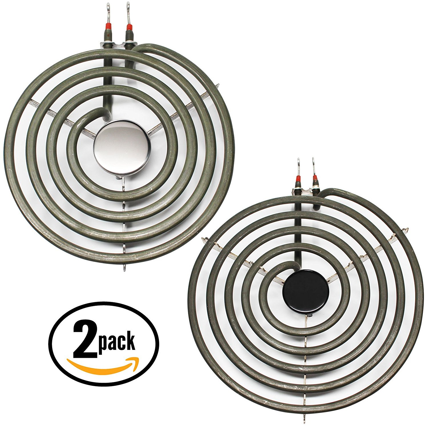 2-Pack Replacement Frigidaire RE36BNW2 8 inch 5 Turns & 6 inch 4 Turns Surface Burner Elements - Compatible Frigidaire 316442301 & 316439801 Heating Element for Range, Stove & Cooktop