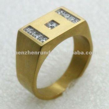 Wholesale New Design Cnc Zircon Mens Gold Finger Rings Buy Mens