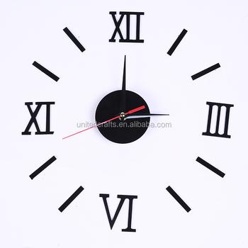 luxury diy wall clock roman numerals 3d number clocks buy wall