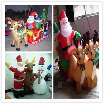 New Design Custom Santa Reindeer Large Inflatable Christmas Decorations