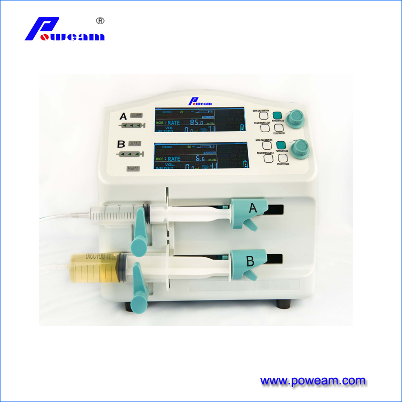 Hospital two/double channel CE approved Electric Syringe Pump for CCU ICU