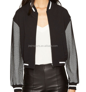 Christmas Autumn/Winter High Quality Baseball Custom Woman Waterproof Jacket with Mesh Sleeve