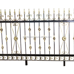 China manufacturer modern iron fence metal doors iron main gate designs galvanized power coating steel fences