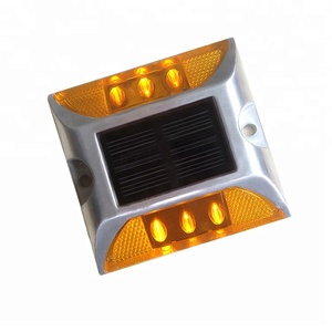 6 LED road reflector for Highway Driveway Pathway Stair Deck Dock Solar Powered Blinking Marker Light