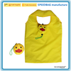 cartoon duck design yellow 190T polyester folding shopping bag for promotion