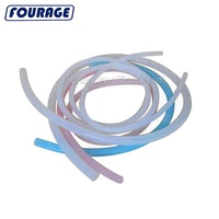 FDA Food Grade Manufacturer High Temperature Extruded CLEAR Color Flexible Silicone Vacuum Hose Tube