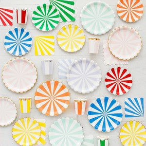 Disposable Flower flexo print paper plate/party /wedding plate