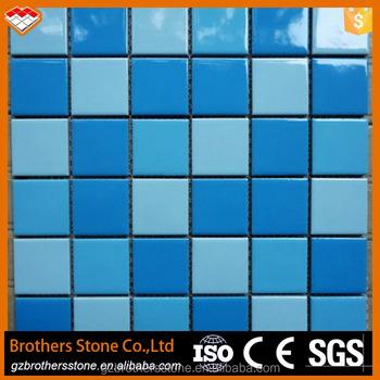 60 Meter Gi Keramik Warna Biru Turquoise Dihentikan Kolam Renang Ubin Mosaik