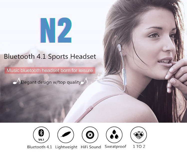 For sports running mini wireless stereo blue tooth earphone,neckband sport headphones