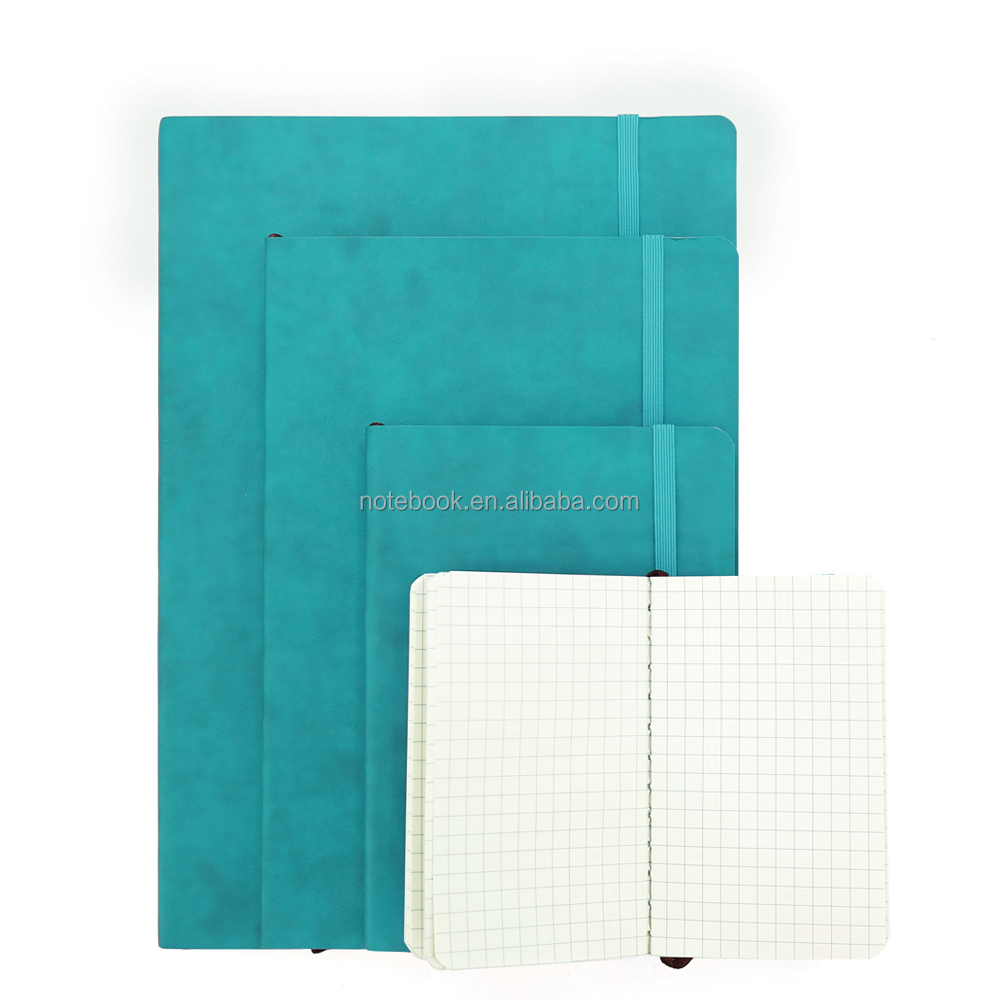Leather squared notebook pocket journal with strap