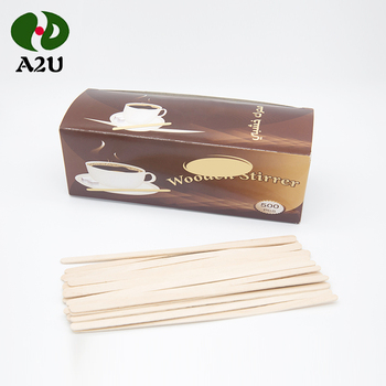 High Quality Nature Disposable Wooden Coffee Stirrer / Sticks