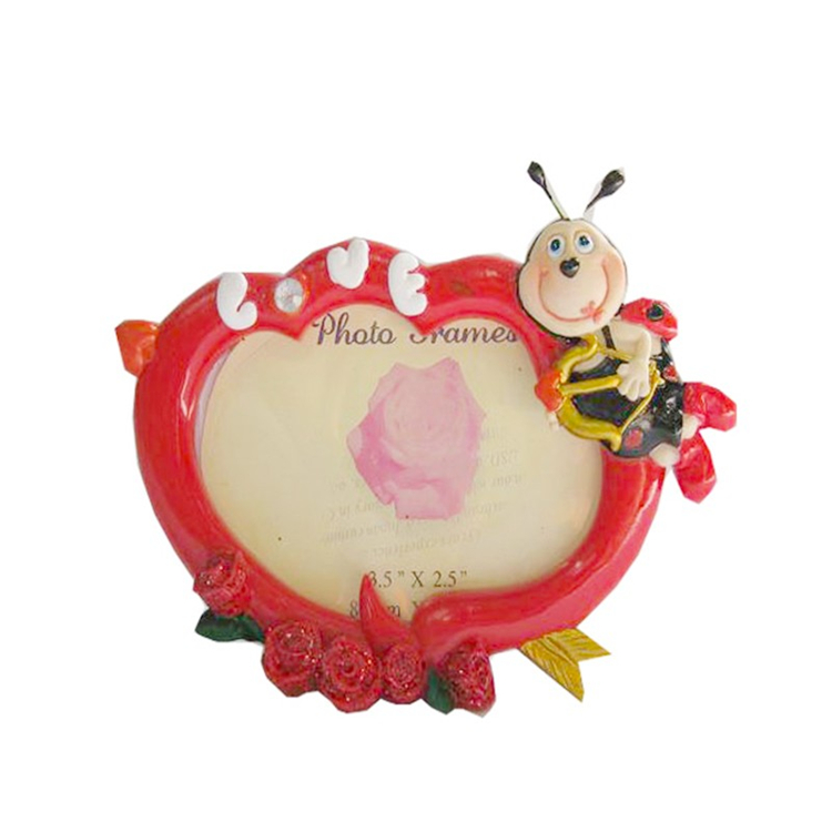 Polyresin cartoon bee photo frame funny photo frame for kids