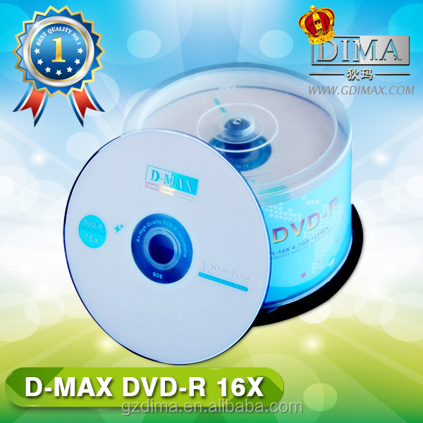 High recording speed blank media dvd in bulk